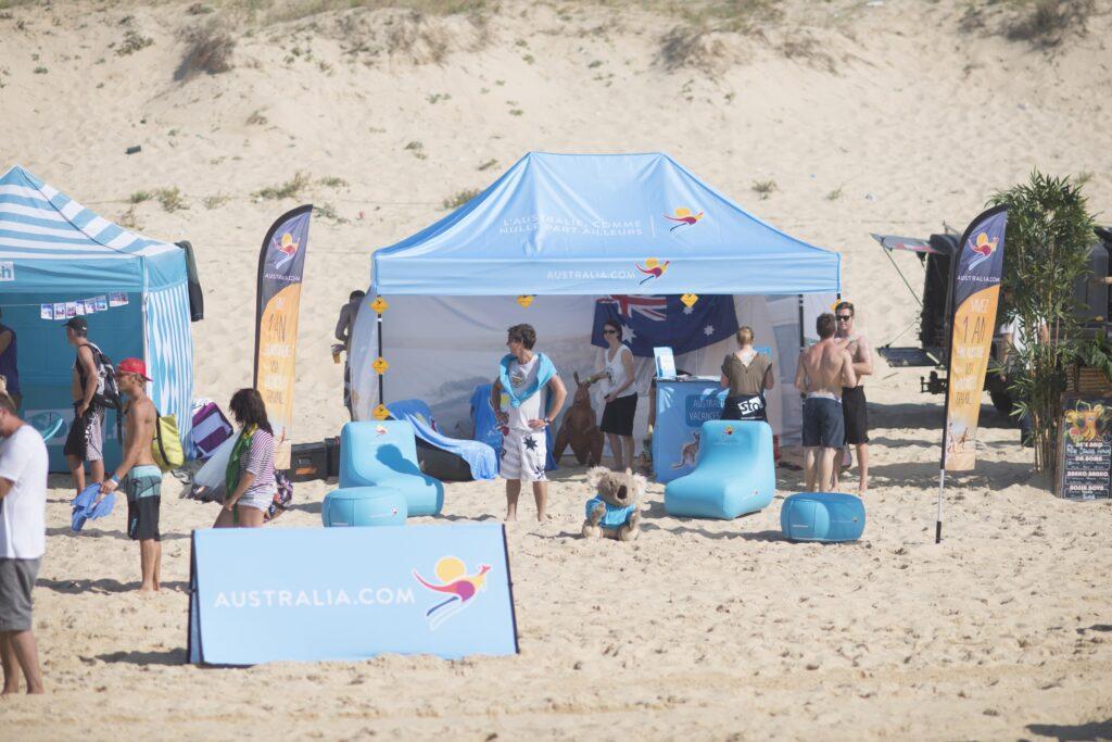 stand Tourism Australia Quiksilver Pro France